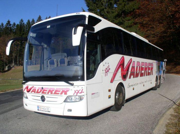Mercedes Tourismo 63 seater outside