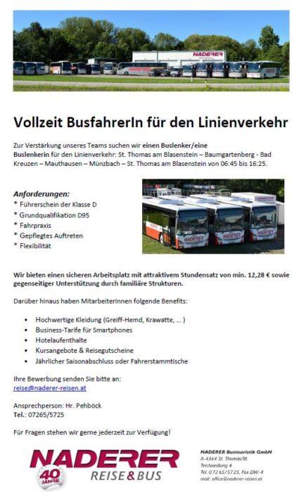Busfahrer Job Linienverkehr Vollzeit